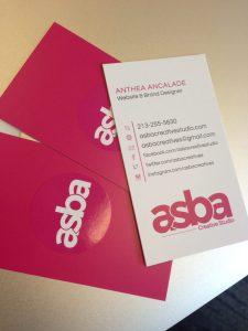 ASBA Creative Studio Business Card Design