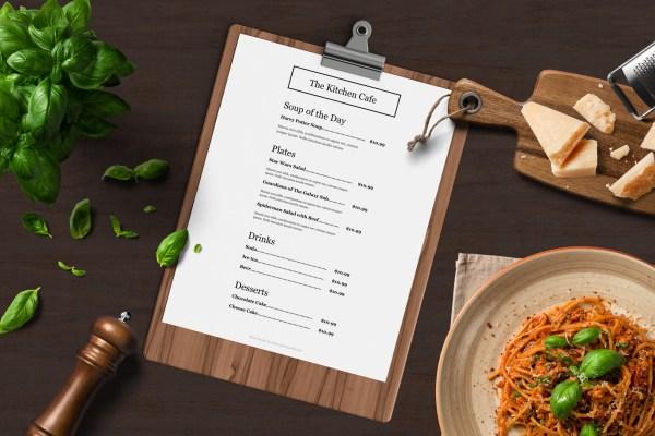 Easy to customize catering menu template - ASBA Creative Studio