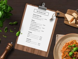 Easy to customize catering menu template - ASBA Creative Studio