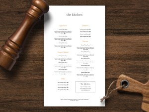 Single sided menu template 29
