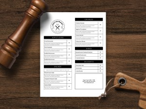 Single sided Menu template