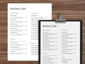 Restaurant Menu Template 34 by Restaurant Spider