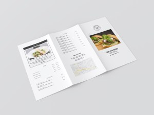 Large trifold menu template