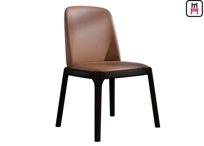 leather kitchen chairs modern brown desk chair armless wood black elegant light dining room