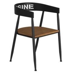 Industrial Style Dining Chairs Hercules Folding Bar Cafe Commercial Metal Chair With Wood Seat