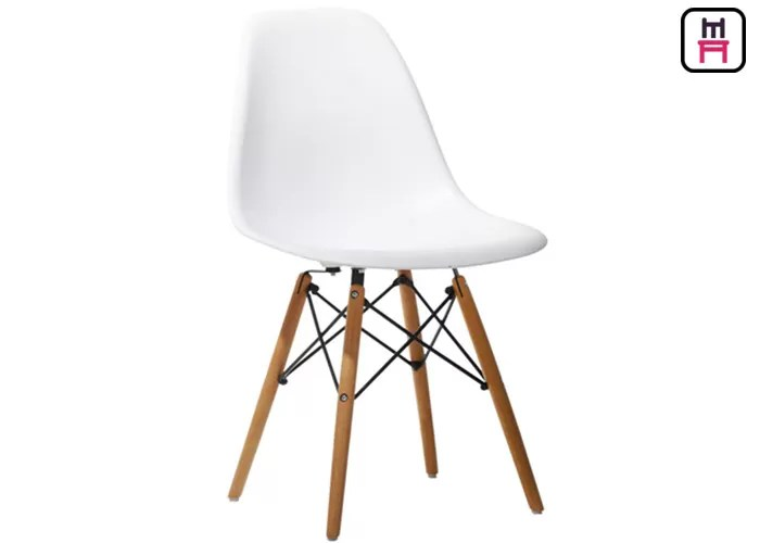 eames style plastic chair how to build a lifeguard lounge restaurant chairs armless stackable for outdoor