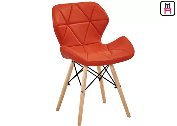 eames bucket chair amazon desk plastic canteen chairs leather seats armchair replica