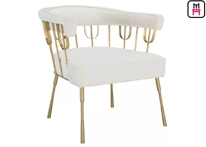 steel chair gold small round patio table and 2 chairs nordice luxury stainless restaurant leather hotel arm