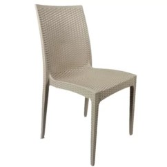 Stackable Restaurant Chairs Big Comfy Chair Indoor Outdoor Plastic Rattan Like Pp Material