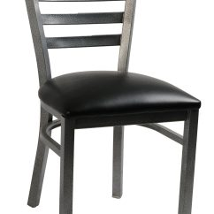 Metal Frame Chairs Comfortable Sitting Ladder Back Side Chair Silvervein