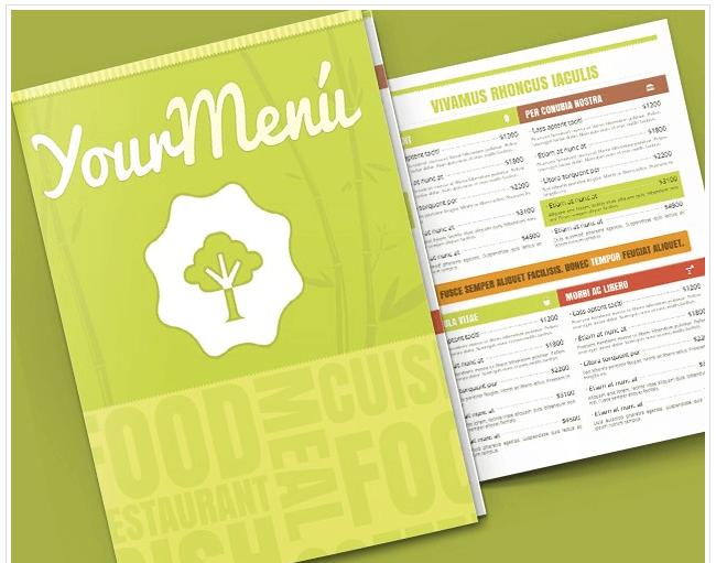 Speisekarten Vorlagen Tipps und 95 kostenlose Mustermens