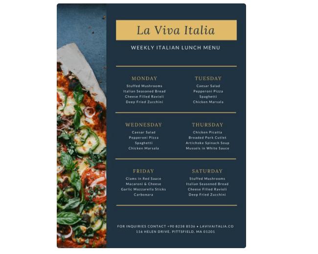 77 kostenlose Speisekarten Vorlagen zum selbst gestalten