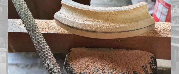 Restauro legno: un pezzo di cornice mancante