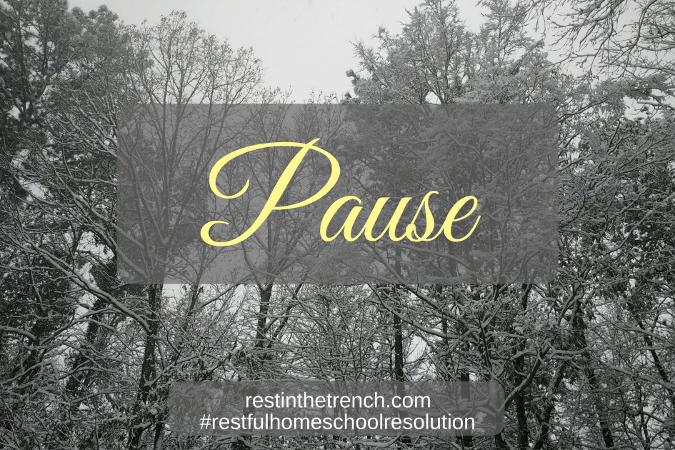 One step in your resolution to seek Jesus first for a restful homeschool.