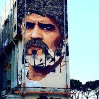 A Napoli il murale di Diego Armando Maradona
