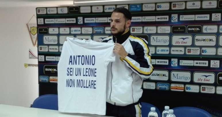 Luigi Canotto dedica il gol ad Antonio Filippi