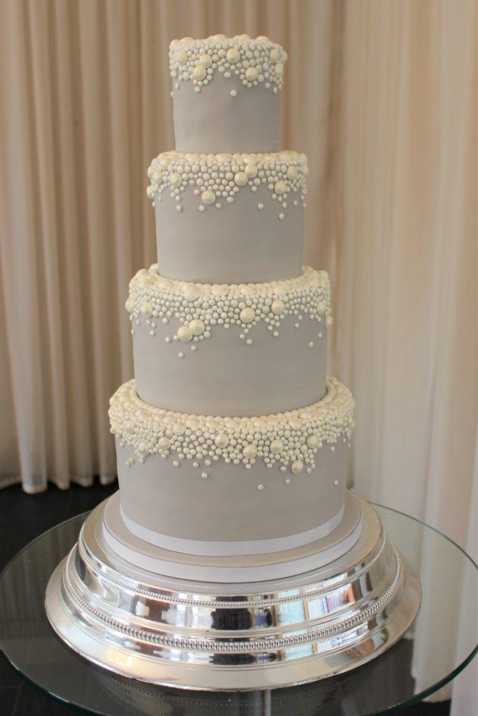 Wedding Cake Wednesday Elegance in Grey  Pearl