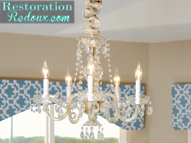 Clear Chandelier Close Up