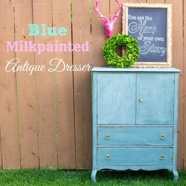 Antique Blue Milkpaint Dresser