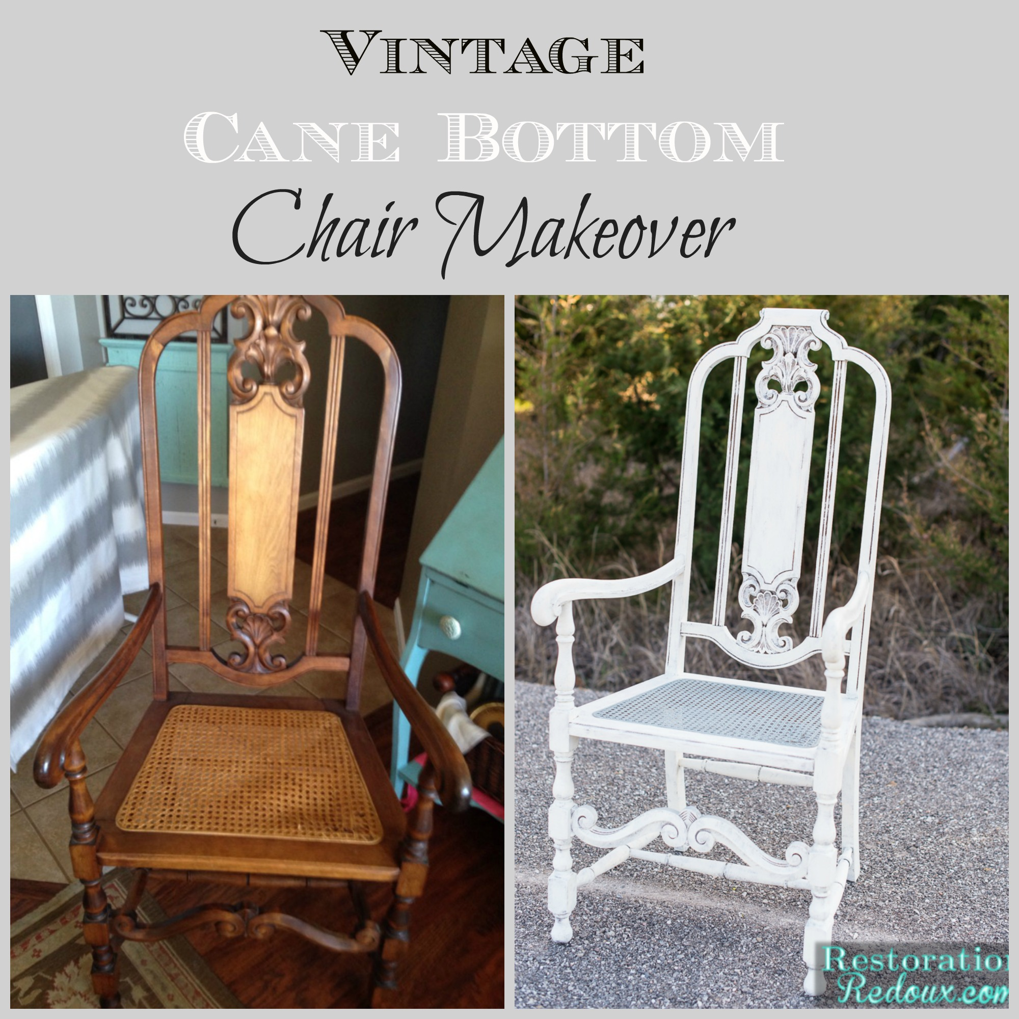 cane bottom chairs gci outdoor pico arm chair navy vintage makeover daily dose of style