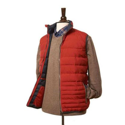 Lightweight Gilet in Red by Vedoneire