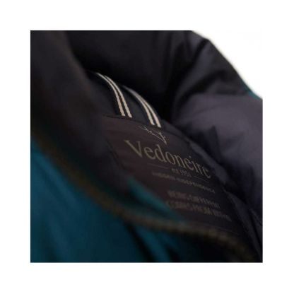 Lightweight Quilted Gilet in Teal by Vedoneire - inside