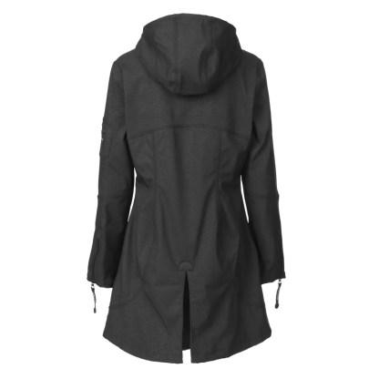 Raincoat in Black by Ilse Jacobsen - Back