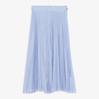 Ottod'ame Gonna Skirt Blue White Stripe