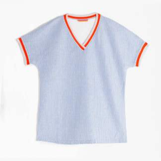 Karla Blue Stripe Top by Vilagallo | Restoration Yard