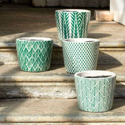 Dutch Pots Green Large Assorted By Grand Illusions | Restoration Yard