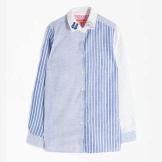 Dover Shirt Blue Stripes By Vilagallo | Restoration Yard