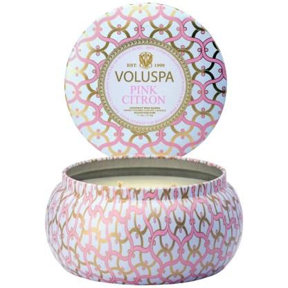 Blanc Pink Citron 2 Wick Tin Candle By Voluspa | Restoration Yard