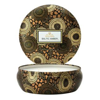 Japonica Baltic Amber 3 Wick Tin Candle By Voluspa | Restoration Yard