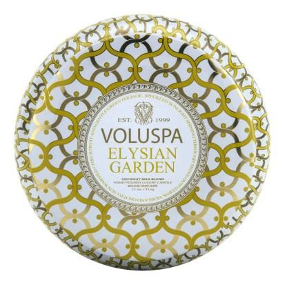 Elysian Garden 2 Wick Tin Candle By Voluspa | Restoration Yard