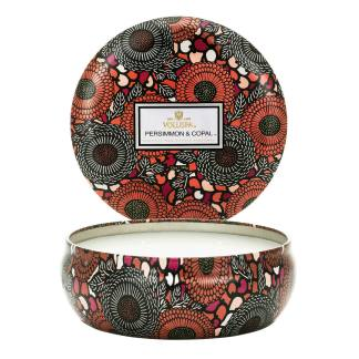 Persimmon and Copal 3 Wick Tin Candle By Voluspa | Restoration Yard
