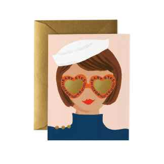 Heart Eyes Greeting Card by Rifle Paper | Restoration Yard