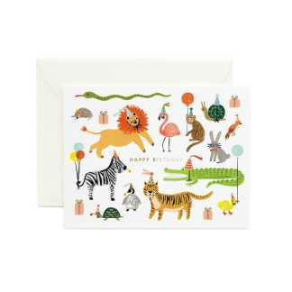 Party Animals Greeting Card by Rifle Paper   Restoration Yard