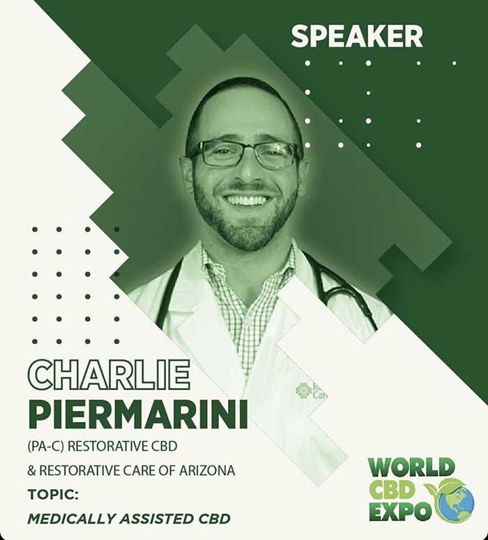 World CBD Expo Speaker - Charlie Piermarini at Restorative CBD