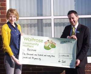 Waitrose Headington supports Restore