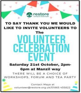 Volunteer Celebration Event @ Restore   England   United Kingdom