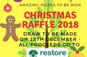 Christmas raffle 2018 – great prizes to be won for £1 per ticket