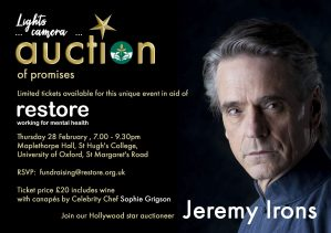 Lights, camera, Auction of Promises...with Jeremy Irons @ St Hugh's College