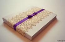 guestbook nunta alb crem violet1