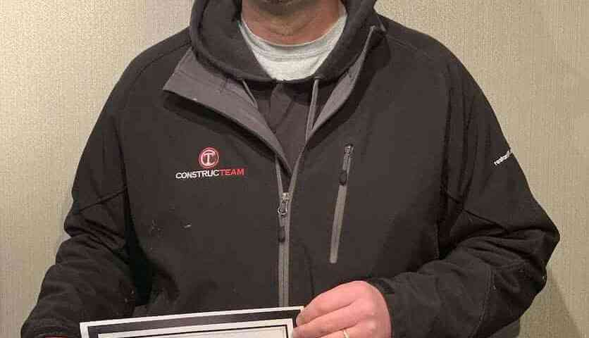 Ryan Forys Constructeam Facilities Manager Employee of the Month April 2019