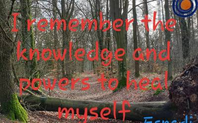 I REMEMBER THE KNOWLEDGE AND POWERS TO HEAL MYSELF