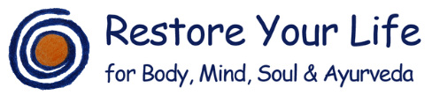 Logo Restore Your Life - for Body, Mind, Soul & Ayurveda