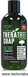 Antifungal Soap with Tea Tree Oil and Neem Body Wash- 100% Natural Care