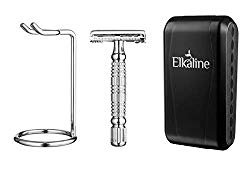 "Elkaline Safety Razor Double Edge Butterfly"" Best for Easy Cleaning"
