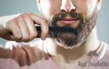 Unrecognizable man combing his beard  Comb  beard