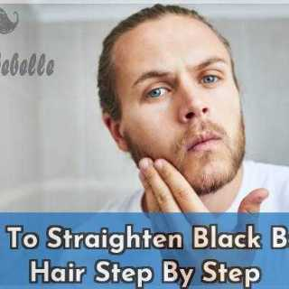 How To Straighten Black Beard Hair Step By Step